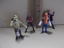 """#A917 Unknown Anime 4 Monster Figures 3.25""""in Tall from Ultraman Tv Shows"""