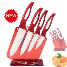 Cuchillo de Cocina Cerámica Mango Rojo Juego Cuchillo 3
