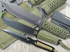 3 x Messer BW Outdoorset Edelstahl Gürtelmesser Camping Survival Neck Knife