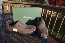 NIB Clark's Ladies Sherwin Time Brown Leather Upper shoes Flats US 9 1/2 M