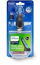 Men Nose Trimmer Clipper Eyebrow Philips Norelco 3 Pcs Hair Removal Safety