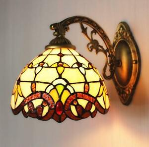 Tiffany Stained Glass LED Wall Sconce Single Lamp Tiffany Indoors Wall Light