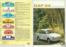 DAF 33 Variomatic 8 página folleto italiano Prospekt catálogo 1967