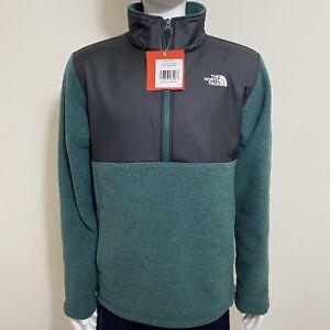 The North Face Boys 200 WT Tundra Fleece Pullover Jacket Night Green Heather M L