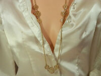Very Pretty Vintage 1960s Gold Tone Necklace  764JL4