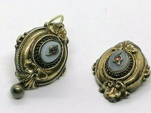 Antike Ohrringe Gold 585 Biedermeier Schaum Gold 585 - Defekt