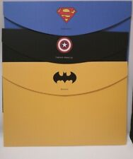 Super Man Batman Captain America Stationery Envelope Foldersx12 Rare Hong Kong