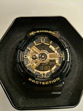 Casio G Shock 5146 Ga-110Gb Gold And Black Digital Sports Watch Antimagnetic