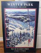 WINTER PARK Linda Roberts WINTERTIME Poster 1983 1984 Riding the Eskimo Chair