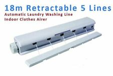 18m Automatic 5 line Indoor Wall Mounted Retractable Washing Clothes Laundry