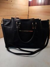 Steve Madden Black Faux Leather Large Purse Bag Tote