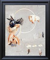 Native American Indian Prayer White Buffalo Black Framed Picutre Art Print 19x23
