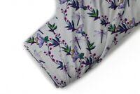 Baumwoll Jersey Libelle grau lila Flieder FvJulie Damenstoff Kinderstoff Blumen