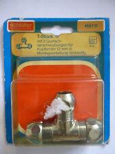 Schläfer T-Stück 3/8 455711 Quetschverschraubung für Kupferrohre 12mm Neu OVP