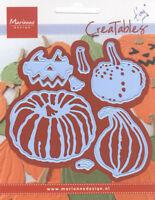 Marianne Design Creatables Dies ~ Tiny Pumpkins, Kitty, Broom, Leaf Doily ~ NIP