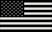 "5""  USA AMERICAN FLAG BLACK SUBDUED HELMET BUMPER STICKER DECAL MADE IN USA"