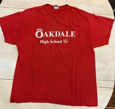 Red Short Sleeve Oakdale High School Bears Heart.org Size XL