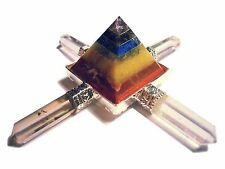 4 armiger Bergkristall Energie Generator mit 7 Chakra Pyramide energy générateur
