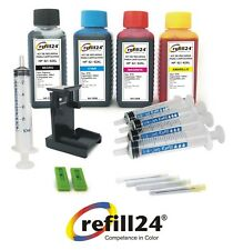 Kit de recarga para cartucho original HP 62 + 62 XL negro y color + 400 ML Tinta