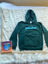 Frank Ocean Blonded Merch Logo Hoodie Green Size L