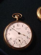 Gf Pocket Watch Working Antique Valengine 7 Jewel 14K