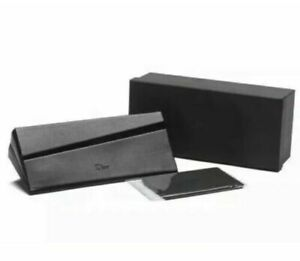 CHRISTIAN DIOR CASE LEATHER MEDIUM EYEGLASSES SUNGLASSES BOX CLOTH & CARD NEW