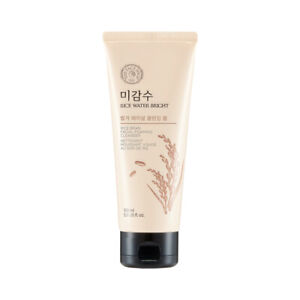 The Face Shop Rice Water Bright Rice Bran Cleansing Foam 150ml Free gifts