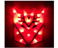 Glowing LED Transformers DECEPTICONS Car Emblem Red auto badge truck custom