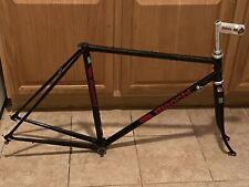 BIANCHI road bike frame black Foderi Forcella Columbus 1990`s ? ( used )