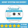 SONY System Recovery Boot Repair Restore CD DVD Disc Windows 10 8 7 Vista XP