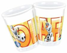 200ml Disney Frozen Plastic Cups Pack of 8 Featuring Summer Olaf