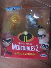 Disney Pixar Incredibles 2 Jack-Jack & Raccoon 2 Pack Jakks Pacific NEW