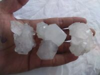APOPHYLLITE Clusters Specimen Minerals Size 4 To 5 Cm Weight 214Grm Lot of 3 PC.