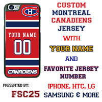 Montreal Canadiens Jersey Phone Case Cover Personalized for iPhone Samsung etc.