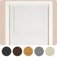 """Window Blinds Mini Blind 1"""" Slat Vinyl Venetian Blinds - Black White Beige Gray"""