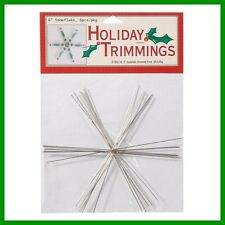 """3 Packs (18 ) SNOWFLAKE Wire FORM 6""""  Snow Flakes U Add Beads E-Z Craft Project"""