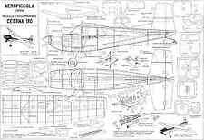 AEROPICCOLA Cessna 180 plans de ligne de commande échelle