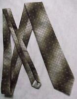 Tie TOOTAL Vintage Mens Necktie 1970s BROWN