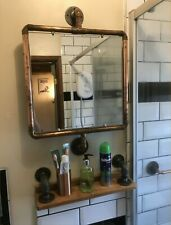 Industrial Copper Toilet bathroom Mirror Rusty unique antique vintage steampunk