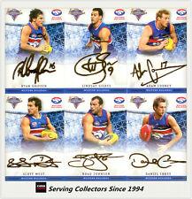 2007 Select AFL Champions Gold Foil Signature Card Team Set (6)-Western Bulldogs