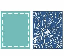 Lifestyle Crafts GooseBumpz, 2-Pk, A2 Embossing Folders AROUND THE WORLD ~EF0040