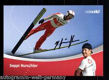 Seppi Hurschler TOP AK Original Signiert Skispringen + A 56011