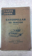 CAT D8 TRACTOR  46A3044 TO 46A10724 PARTS MANUAL