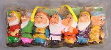 Vintage Walt Disney Seven Dwarfs 7 Figures w/ Case