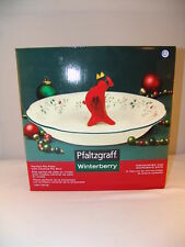 Pfaltzgraff Winterberry Pie Plate w/ Pie Bird NIB