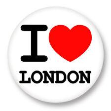 "Pin Button Badge Ø25mm 1"" ♥ I Love You j'aime London UK Londres"