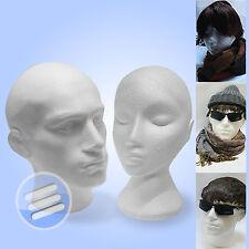 Polystyrene Male & Female Display Head Mannequins