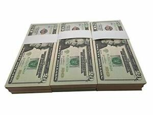 Prop Real Looking Copy 100 pcs Full Print Stack - Total $2,000 for Movie, TV,