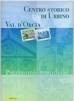 ITALIA - FOLDER 2008 -UNESCO CENTRO STORICO URBINO VAL D'ORCIA  FACCIALE E 20,00