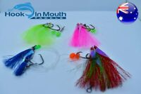 8 Mixed Snapper Rigs Flasher Fishing Rig - Paternoster 60lb 6/0 Hooks Mulloway